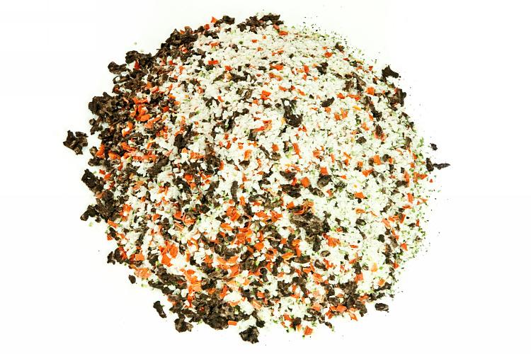 Reisflocke mit Pansen und Blättermagen